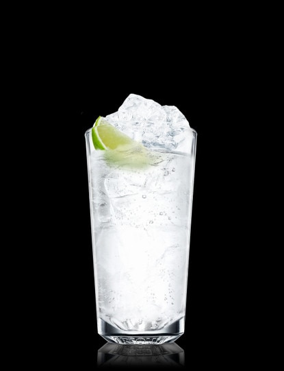 Absolut Citron and Tonic