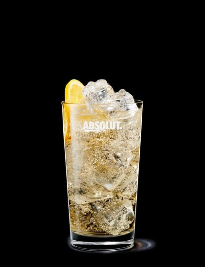 Absolut Mandrin with Ginger Ale